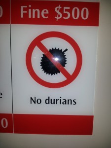 Singapore No Durians